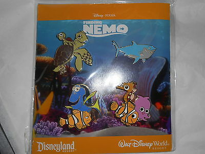 DISNEY WORLD DISNEYLAND RESORT NEW IN PACK FINDING NEMO SET FISH 4 CHARACTER PIN
