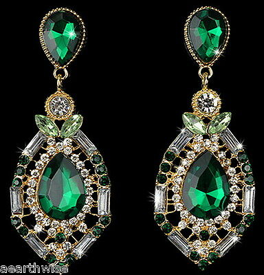 GREEN DANGLE EARRINGS Wicca Witch Pagan Goth COLOURFUL GYPSY BOHO