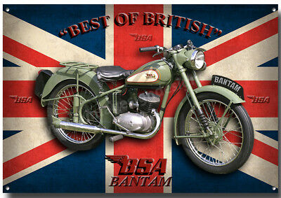 Bsa Bantam Motorcycle Metal Sign,classic,vintage,enthusiast.