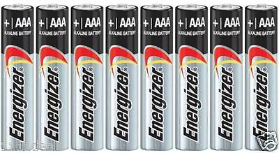 8 Energizer Max E92 AAA LR03 AM4 1.5V Alkaline Batteries Made in USA