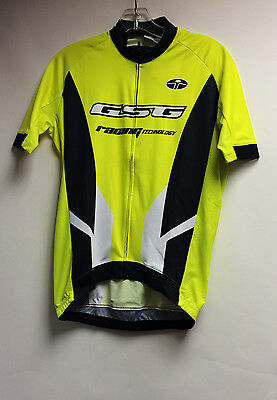 Elite Interpower CYCLING SHORT SLEEVE JERSEY (Neon Yellow) Made in Italy by  GSG 5deba0238