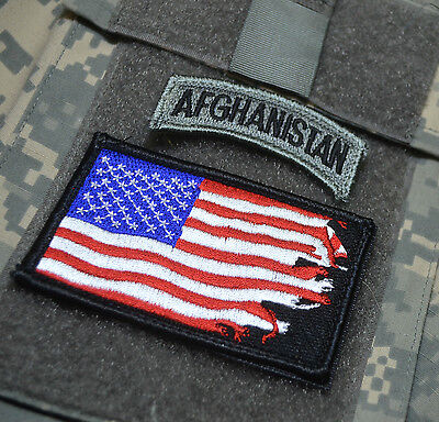 Kandahar Whacker Marsoc Force Recon Msot Trophy Ssi: War Torn Flag + Afghanistan