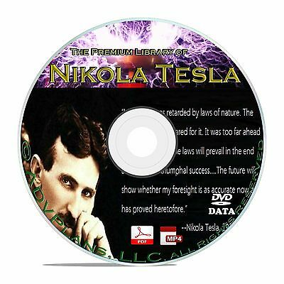 Nikola Tesla, 325+ Books Articles How to Build a Coil, Patents Weapon CD DVD B67