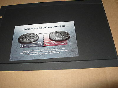 * AUSTRALIA MINT STAMP MINIATURE SHEET COMMONWEALTH COINAGE