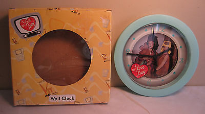 Vintage 1950's Retro Style Atomic Green I Love Lucy Party Wall Clock By Vandor