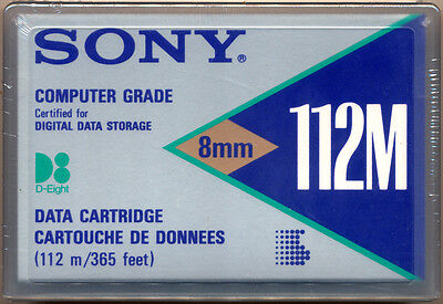 SONY QG112MA 112M D-8 Certified Digital Data Storage Tape 5GB NEW SEALED
