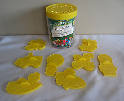 Vintage 1990 Wilton Sesame Street Going Places 8 Plastic Cookie Cutters
