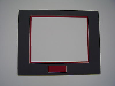Picture Frame Double Mat 11x14 for 8x10 photo Gray with Red liner signature line