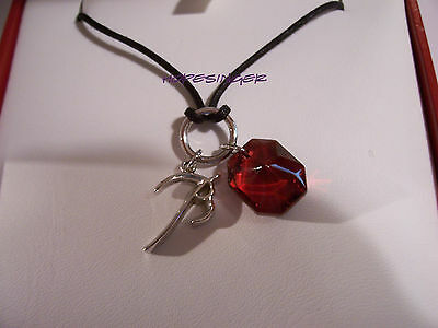 NEW in BOX BACCARAT Crystal B MINE B CHARM PENDANT Sterling Silver Link $210 FS