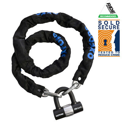 Oxford Heavy Duty GP 1.5M Motorcycle Motorbike Chain Lock + Wall Ground ANCHOR