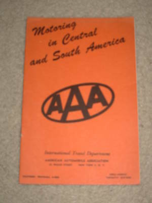 1947 AAA Motoring in South America Tourist Travel Guide