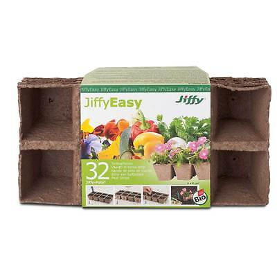 Jiffy peat - growing pots, angular 6x6cm - 32 Pieces Cultivation