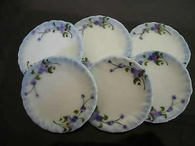 10x15 mm Purple Orchid Paint Scalloped Plate Dollhouse Miniature Ceramic