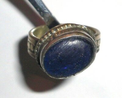 Handmade vintage ring from Uzbekistan with Blue Stone