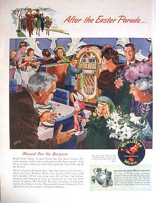 1947 WURLITZER MUSIC JUKEBOX - AFTER EASTER PARADE - Print Ad