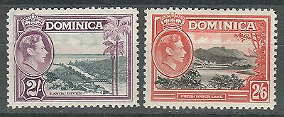 Dominica 1938 Kgvi Pictorial 2/- And 2/6