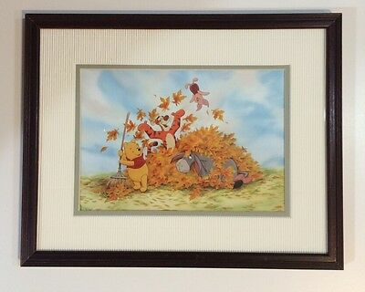 ☀️ WINNIE THE POOH Wood Framed Picture Wall Art Hang Boy Girl Baby Room 15x12