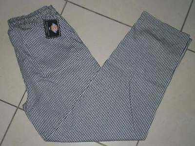 Dickies Chef Collection Four Pocket Checker Pant Sz XL