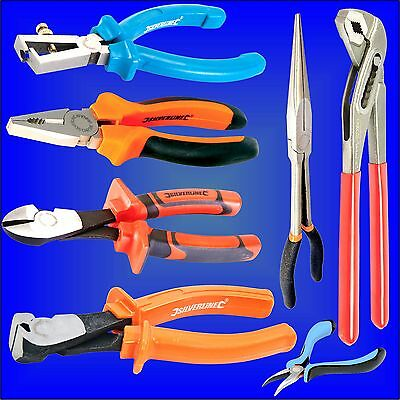 Pliers long nose bent side cutting end waterpump electrician mini VDE small pump