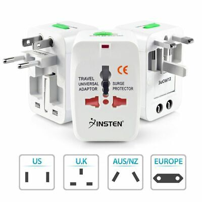 US to EU Europe and Universal AC Power Plug World Travel Adapter Converter