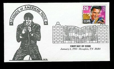 Elvis Presley Graceland Memphis Tennessee FDC Uncommon Whit's Covers cachet