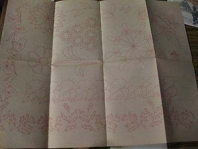 Io-A215  Vtg Artex Hand  Embroidery Painting Transfer-Floral Designs-Roses+