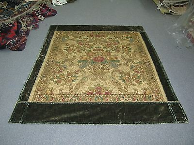 Antique German Austria Viennese European Woven Floral Textile Tapestry Brocade
