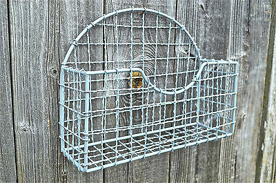 Vintage Style Ministry Grey Wire Office Letter Rack Letters Holder