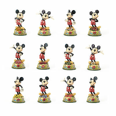 Disney Traditions *mickey Mouse - Select A Month Birthstone* Figurine New Boxed