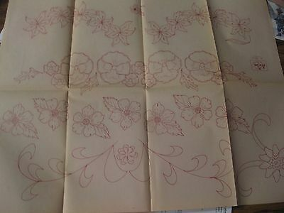 IO-A320  VINTAGE ARTEX HAND EMBROIDERY//PAINTING PATTERN-Roses,flower basket++