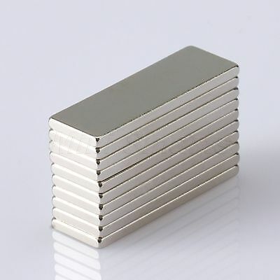 30mm x 10mm x 2mm N35 Super Strong Block Cuboid Magnet Rare Earth Neodymium X5