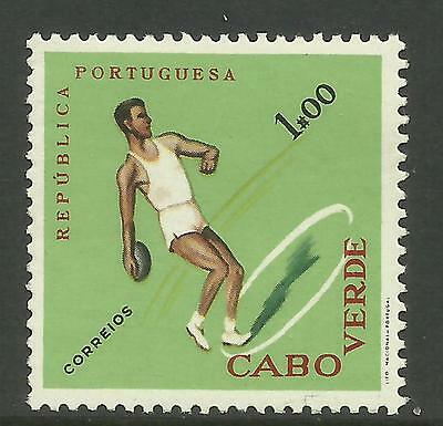 CAPE VERDE 1962 SPORTS ATHLETICS DISCUS SINGLE Value MINT NEVER HINGED