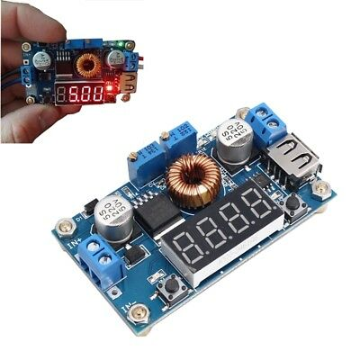 DC-DC 5A LED Drive Lithium Battery Charger Module with Voltmeter Ammeter Display