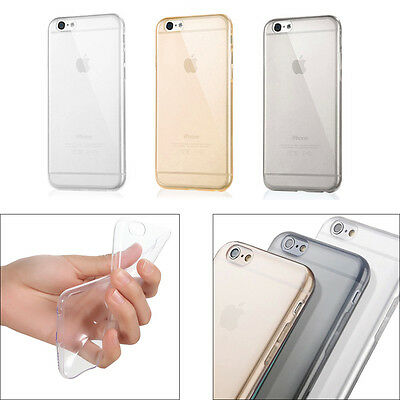 Ultra Thin Clear Crystal Rubber TPU Soft Case Cover For iPhone 6 6s Plus 5.5""