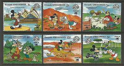 GRENADINES 1988 DISNEY SYDPEX Koala AFL Set of 6v MNH - WHOLESALE LOT of 10 Sets