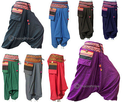 Gypsy Hippie Aladdin Hmong Baggy Genie Harem Pants Mens / Womens Hammer Trousers