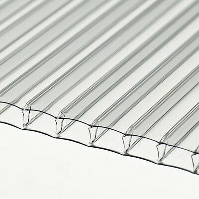 10 SHEETS of GREENHOUSE POLYCARBONATE 1504 x 610 x 4mm 2ft Wide x 5ft Long
