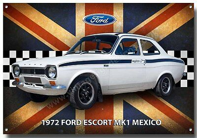 Ford Escort Mk1 Mexico Metal Sign,classic Ford Cars,1970's Cars.iconic