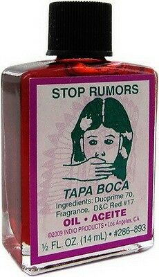 STOP RUMOURS OIL 14mls Wicca Pagan Witch Spell Goth STOP PEOPLE SPEAKING ABOUT U