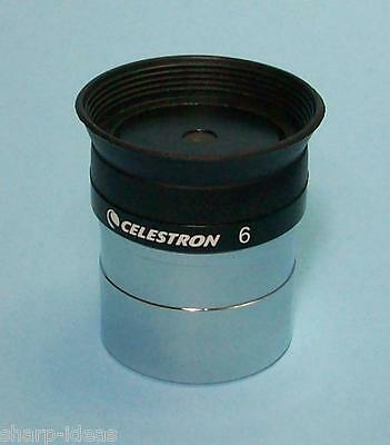 "Celestron 6mm High Power 1.25"" Plossl Telescope Eyepiece - New 6 mm Ocular"