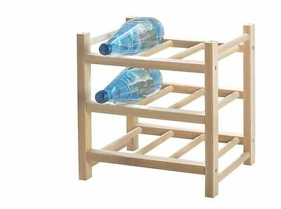 Ikea Solid Wood wine Rack 9 Bottle HUTTEN-NEW