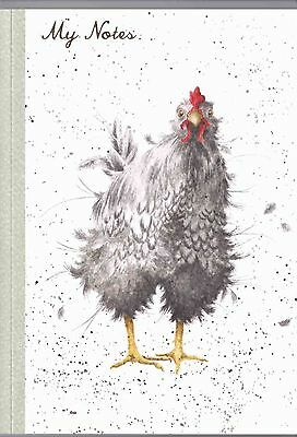 """Wrendale Designs Country Set  A6 Notes Memo pad """"Curious Hen"""" Notebook"""
