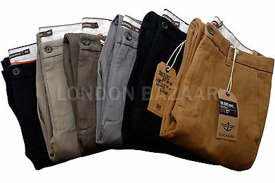Genuine Dockers D1 Men Trousers Soft Khaki Chinos Straight Legs Slim Fit Pants