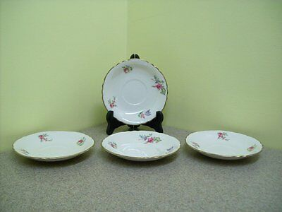 "Vintage Household Institute ""Priscilla"" Pattern Saucers (Set of 4)"