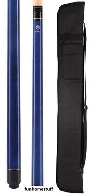 MCDERMOTT LUCKY L2 BLUE Two-piece Billiard Table Pool Cue Stick & FREE CASE