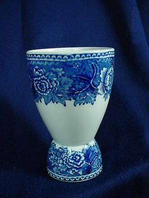 DOUBLE EGG CUP ARABIA FLOW BLUE MADE IN ENGLAND