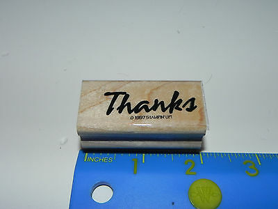 Stampin Up Rubber Stamp - Phrase - Thanks (Bold Script)