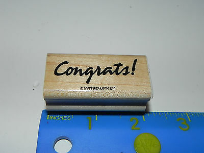 Stampin Up Rubber Stamp - Phrase - Congrats! (Bold Script)
