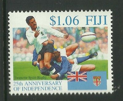 FIJI 1995 25th Anniversary Independence Single RUGBY Value MNH