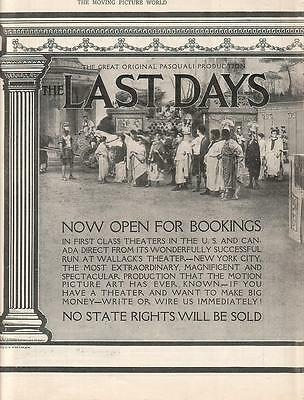 Fernanda Negri Pouget 1914 Ad- The Last Days Of Pompeii/2 page ad